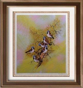Max Karp Ltd Ed Serigraph Large Birds Only $75