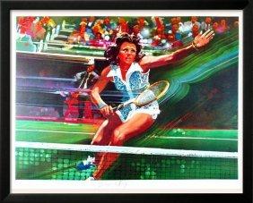 Tennis Billie Jean King Neiman-style Ltd Ed Sale