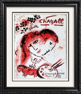"""Marc Chagall """"after"""" Original Color Lithograph"""