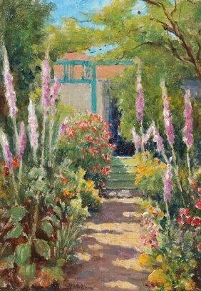 Pacific Grove Garden By William Adam (1846-1931)