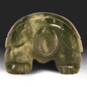 Carved Green Jade Turtle