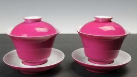 A Pair Of Ruby-back Cups