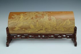 Chinese Bamboo Carving Eight-immortals