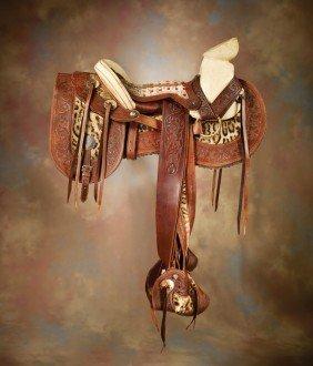 Exotic Saddle With Saddlebags
