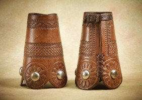Early Wild West Show Cowboy Cuffs