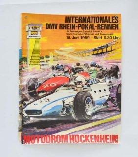 "2 Plakate ""internationales Dmv Rhein-pokal-rennen"" 1969"