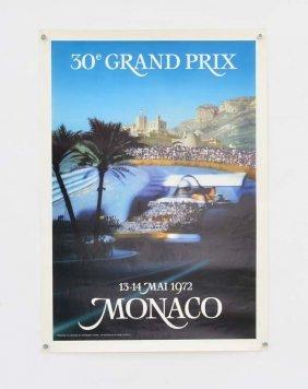 """Plakat """"grand Prix Monaco"""" 1972"""