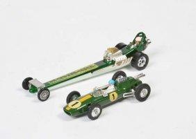 Corgi Toys, Quatermaster Dragster + Lotus Climax
