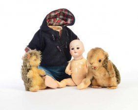 Am 1894, Kleine Puppe Mit Porzellankopf U.a.