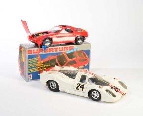 Joustra, 2 Porsche Rennwagen