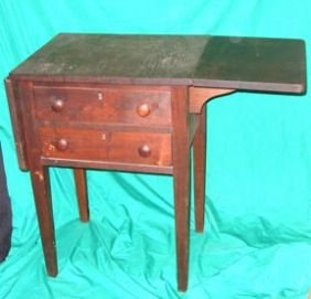 Furniture Drop Leaf Work Table Vintage