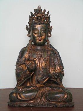 Huge Chinese Bronze Buddha