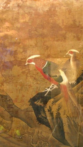 Chinese Water Color Painting On Silk, Amonymous,
