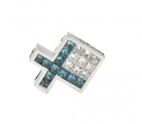 0.96 Ct. Princess Cut Multi-color Diamond Fish Shape