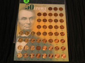 50 Years Of Lincoln Pennies - 1951 Thru 2000 - Misc