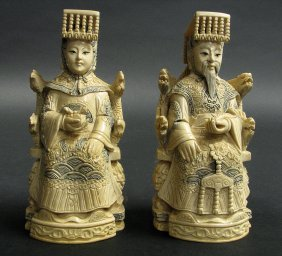 Carved Japanese Figural Soap Stone