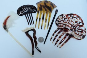 Lot Of Stunning Hair Combs