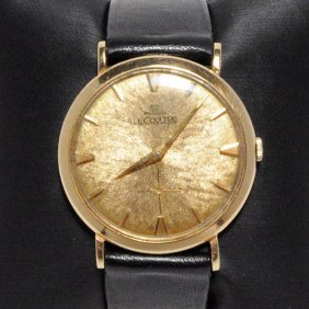 Exquisite Vintage Jaeger Lecoutlre 14kt. Gold Watch