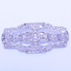Beautiful Edwardian Antique Diamond Brooch