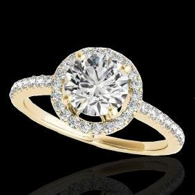 1.4 CTW G-Si Certified Diamond Bridal Solitaire Halo