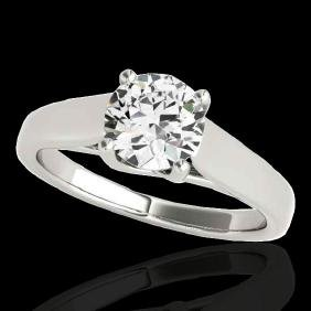 1 CTW G-Si Certified Diamond Bridal Solitaire Ring Gold