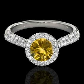 1.4 CTW Certified Si Fancy Intense Yellow Diamond