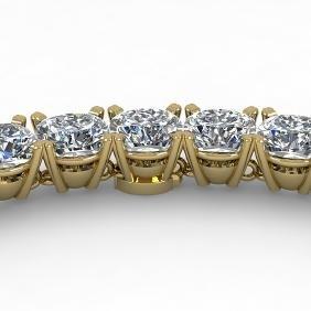 35 CTW Cushion Cut Certified SI Diamond Necklace 14K