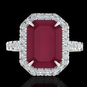 5.33 CTW Ruby And Micro Pave VS/SI Diamond Certified
