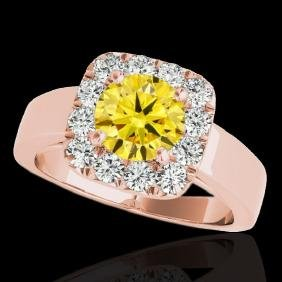 1.55 CTW Certified Si Fancy Intense Yellow Diamond