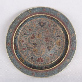 Antique Chinese Cloisonne Charger