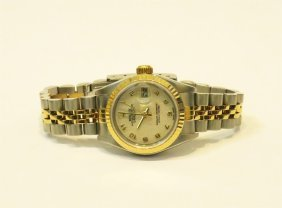 Rolex 18k Yg Stainless Steel Datejust Jubilee Lady