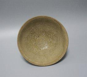 Chinese Porcelain Blue Glaze Fish Dish