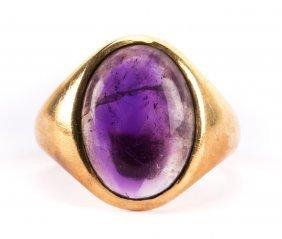 A Gent's Shreve & Co Amethyst Ring