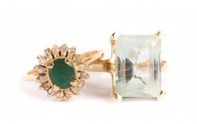 A Pair Of Lady's Gemstone Rings