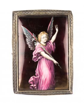 Enamel Painting Of Angel Gabriel