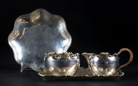 Four Assorted German Silver Small Table Items