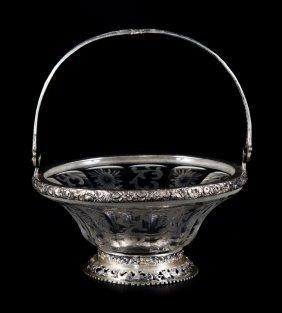 Continental Silver Sweetmeat Basket Hanau 1890-99