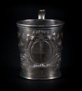George W. Webb Coin Silver Mug