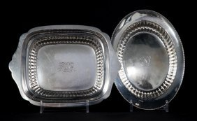 Two American Sterling Silver Small Reeded Dishes