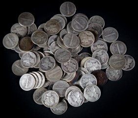 [us] 100 Mercury Dimes