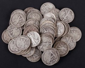 [us] 47 Walking Liberty Silver Half Dollars