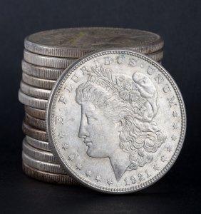 [us] 14 Us Morgan Type Silver Dollars, 1921