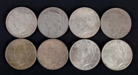 [us] 8 Us Peace Type Silver Dollars