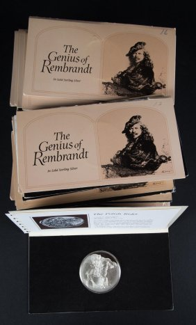 "Set Of ""genius Of Rembrandt"" Silver Medallions"