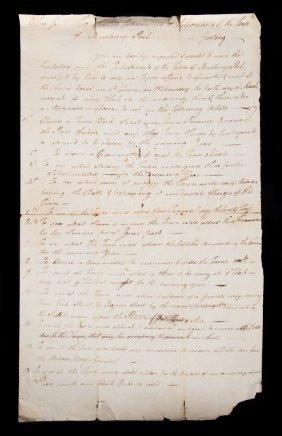 Newburyport Ma Notice Of Town Meeting, 1784