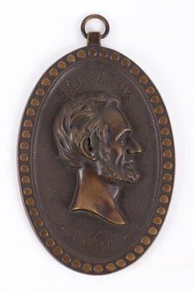 Lincoln Plaque, Centennial Exhibition, 1876