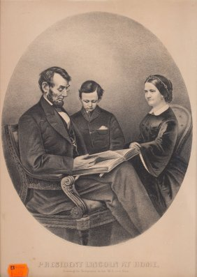 Print: The Lincoln Family, Currier & Ives