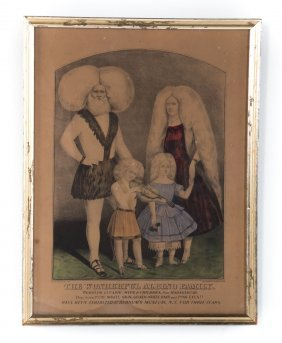 Currier And Ives. The Albino Family Print
