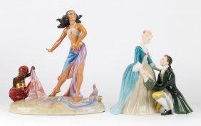 Two Royal Doulton China Figural Groups