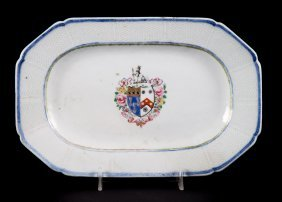 Chinese Export Armorial Small Platter